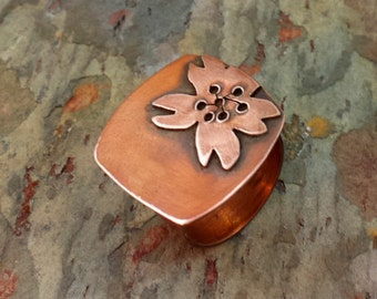 SARI Floral Copper RING, Made to Order