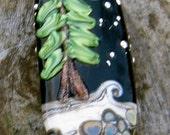 Camping in the Woods, Focal Bead, Handmade Artisan Glass Lampwork Bead, Simply Lampwork by Nancy Gant SRA G55