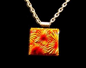 Jewelry #Necklace #Pendant #Brilliant Sparkling #Gold Red Orange