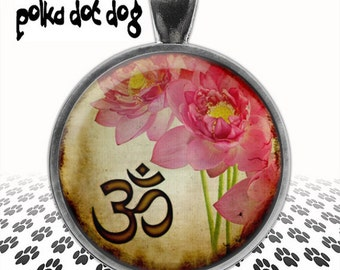 Lotus Blossom -- Ohm Floral Large Glass-Covered Pendant