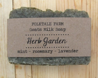 Herb Garden - goat milk soap with peppermint, rosemary, & lavender essential oil