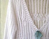 CUSTOM ORDER VICKI Vintage Crochet Sweater Size S-M
