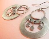 Egyptian Inspired Argentium Sterling Silver Earrings, Nefertiti Earrings, Silversmith Exotic Earrings, Artisan Earrings, Metalsmith Earrings