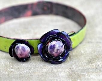 Mill End Bracelet - Purple 'Anemone'