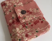 Japanese sakura travel passport wallet/ holder with coin compartment