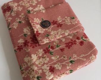 Japanese sakura travel passport wallet/ holder with coin compartment