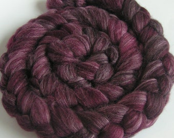 Roving Top Fiber Merino SILK BAMBOO Top Fiber BUMBLEBERRY  50 25 25 PhatFiber Spin Felt Nuno Craft 4 ounces
