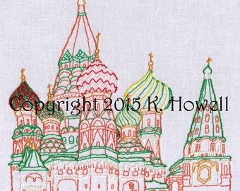 Saint Basil's Hand Embroidery Pattern