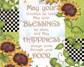 Greeting Card - Encouragement Sunflowers