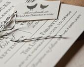 Letterpress Wedding Invitation, farmette, farm wedding, farm to table