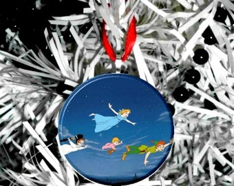 Disney Peter Pan Wendy Michael John Christmas Tree Ornament -Personalize Option