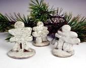 Pottery Inukshuk Sculpture Set of Three , Inuksuk Sculpture