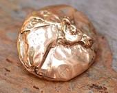 Artisan Bronze Horse Button Clasp