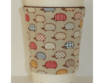 Hedgehogs Cup Cozy Sleeve Tea Coffee Cosy Holder Hedgehog Wildlife Fits Starbucks Nero Costa Takeaway Paper Cups