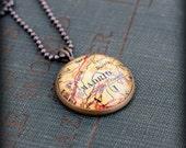 Madrid Map Necklace - Custom Handmade Pendant - Spain - Charm Jewelry - Gift - Wanderlust