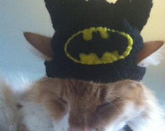 Batman Crochet Hat for Cats, Dogs and Rabbits