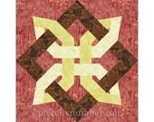 Lugano Clover quilt block, paper piecing quilt patterns, celtic knot patterns, knot quilt, foundation piecing