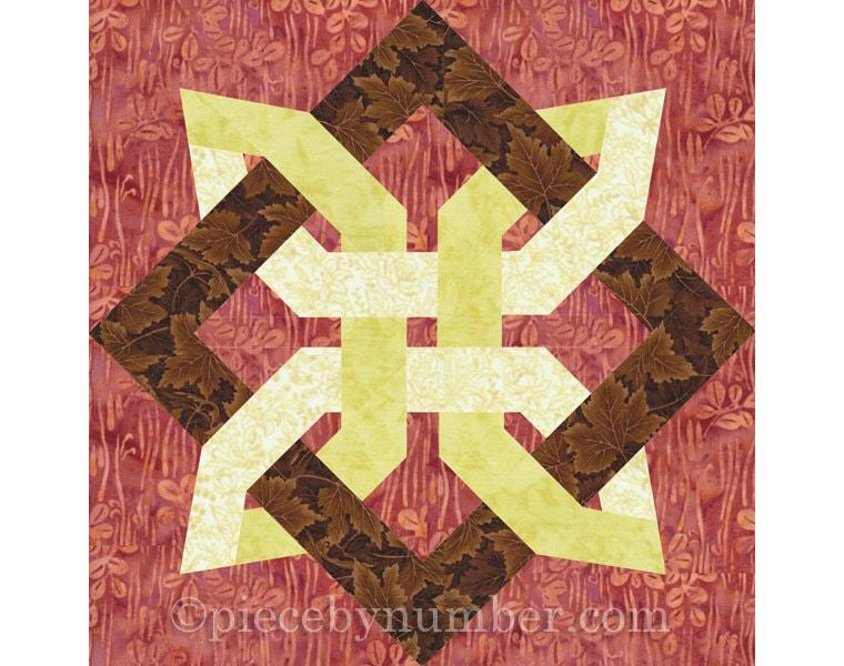 Lugano Clover quilt block, paper piecing quilt patterns, celtic knot patterns, knot quilt ...