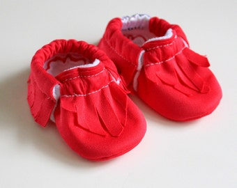 Moccasins Baby Infant toddler shoes newborn nonslip soft sole crib shoes slip on walker SWAG booties blue pink green yellow red shower gift