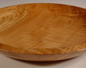 Curly Myrtlewood Platter Hand Turned Wooden Bowl Art Number 4010