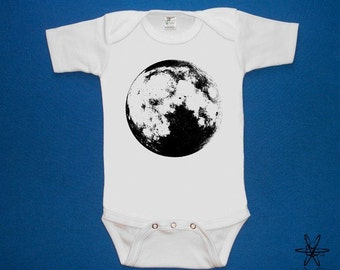 Full Moon Luna baby one piece bodysuit shirt creeper  screenprint Choose Size