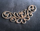 Victorian Doodle Focal Piece - accent - Solid Sterling Silver - centerpiece 1 1/2 inches X 1/2 inch