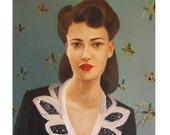 Miss Masters. Art Print.