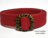 Red Woven Belt- Brick Red Fabric Belt- Wide Belt Narrow Cloth Deep Red Women's Belt Trench Coat Belt -  xs to Plus Size / Gifts for Women