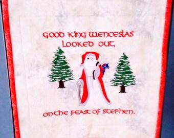 Good King Wenceslas Mini Quilt
