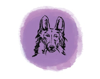 Long-Hair German Shepherd Dog 2 Print