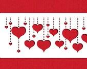 Hanging Hearts Cake Side Stencil - Designer Stencils (C930)