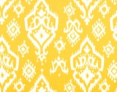 CLEARANCE!! 1 yard Premier Prints Fabric - 1 yd - Corn Yellow Raji - Ikat - Premier Prints Raji Yellow and White Home Decor Slub Fabric