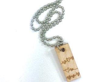 "The Original DeBella Oil diffuser ""Bella"" - Wood charm necklace no charms BRONZE or STAINLESS STEEL"