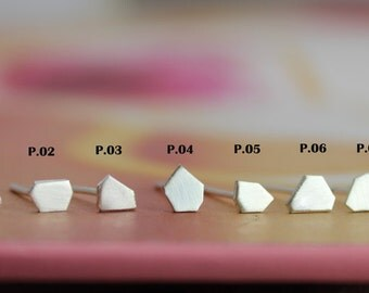 Random - polygon singles, for single or multiple piercings, for men or women, geometric, most styles still available - see drop down list