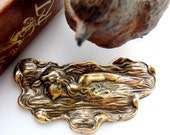 ANTIQUE BRASS Water Nymph Mermaid Stamping - Jewelry Ornamental Findings (C-302) #