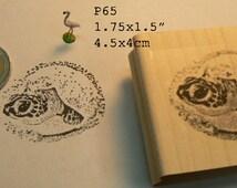 P65 ocean turtle hatching rubber stamp