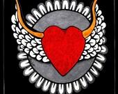 My Heart Has Wings - Original Scratchboard - Ranlett