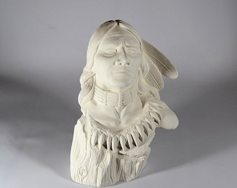 Driftwood Brave Ready to Paint Ceramic Bisque Native American
