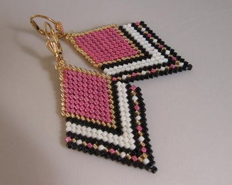 Seed Bead Earrings - Pink
