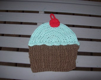 Pot Holder, Kitchen,Gift,Cupcake,Crocheted,Prize,Secret Pal