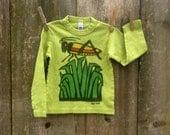Spring Green Long Sleeve Grasshopper Tee