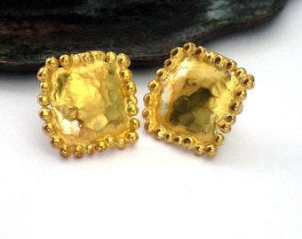Gold Earring Studs, Stud Earrings, yellow Gold Earrings, Bridal Earrings, Wedding Earrings, Minimalist Studs.Earring Studs,Yellow Gold Studs