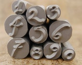 DANIELA - Numbers -  in wooden storage box - letters range in size from 3-6.6mm - includes How to Stamp Metal tutorial