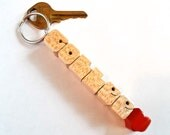 Maple Wood - Custom Heartfob Name Keychain - Carved to Order