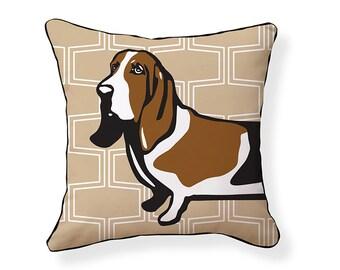 Basset Hound Pillow/Tan