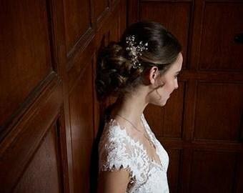 Bridal headpiece, Bridal hair accessories, wedding hair accessories, bridal comb, wedding comb, handmade pearl Swarovski crystal hair comb
