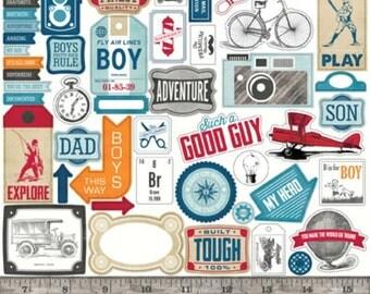 Echo Park Jack & Jill Boy Element Sticker 12x12