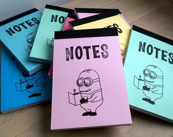 Minions (a jotter in PALE PINK)