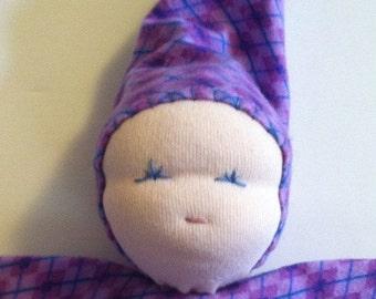 Waldorf Inspired Blanket Baby Teething Doll