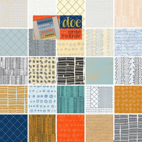 "Robert Kaufman DOE Precut 5"" Charm Pack Fabric Quilting Cotton Squares Carolyn Friedlander CHS-277-42"